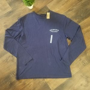 Cremieux blue long sleeve graphic tee